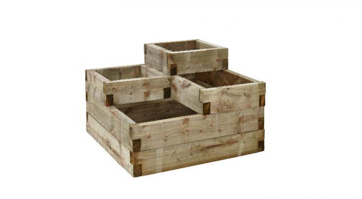 Tiered stacked raised beds ; Gardenista