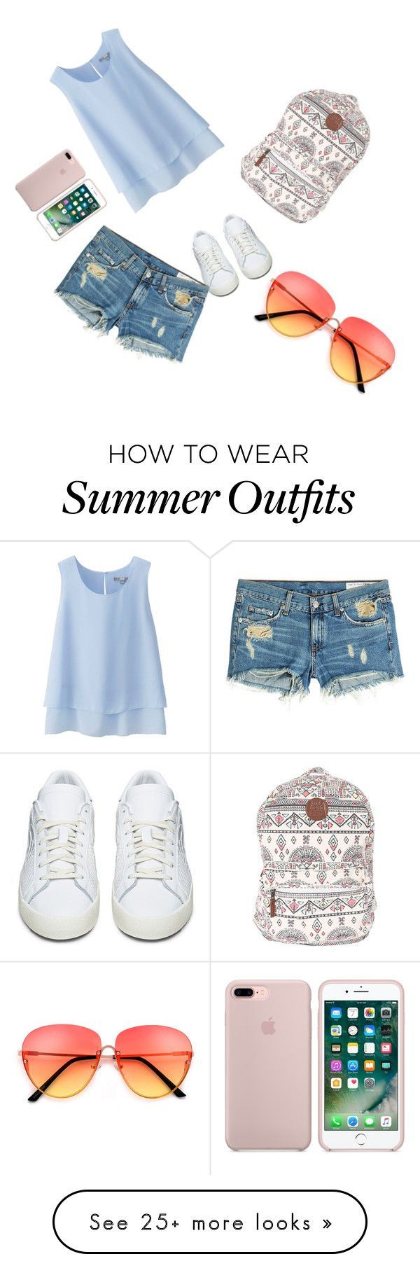 "Summer Outfits : ""My First Polyvore Outfit"" by camdawg on Polyvore featuring Uniqlo Bi"
