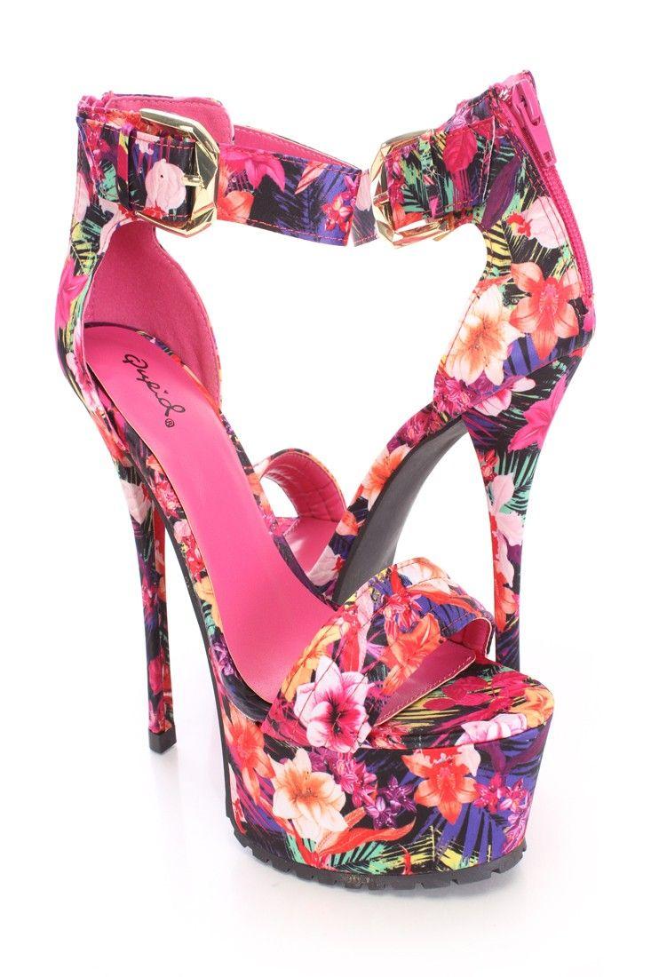 Mejores 46 imágenes de Floral Heels en Pinterest | Tacones de aguja ...
