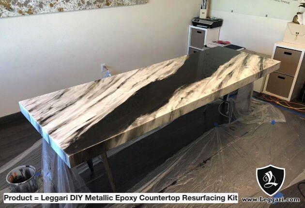 Granite Look Epoxy Countertop Black White Epoxy Epoxy