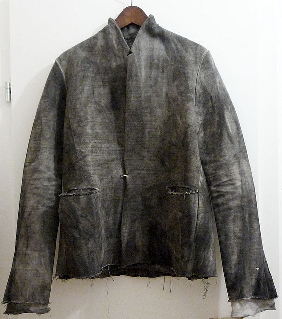 "M.a+   Cold dyed jacket  (beautiful shades of ""smoky"" grey !)"