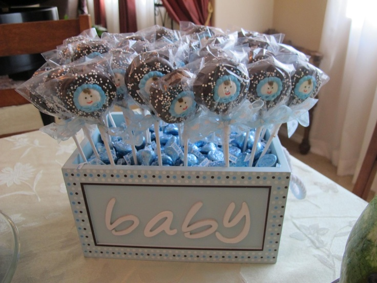 Dipped Oreos For Baby Shower Part - 15: My Baby Shower Favors -- Choc Dipped Oreos With Royal Icing Decorations And  Sprinkles