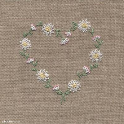 Daisy Chain Heart #embroidery