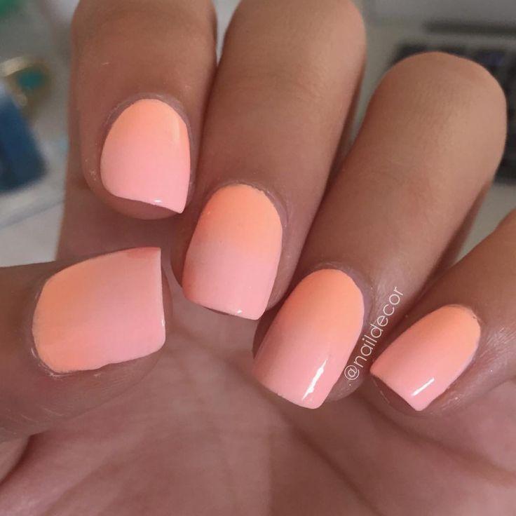 neon peach nails @naildecor (floss gloss- pony + colour club- hot hot hot pants)   #nail polish / lacquer