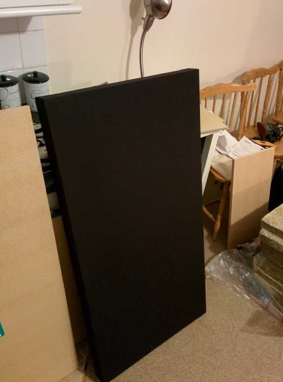 Acoustic Panels On The Cheap Acoustic Panels Diy Sound Panels Diy Acoustic Panels