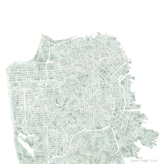Moonrise Kingdom Painting At The End San Francisco CA Map P...