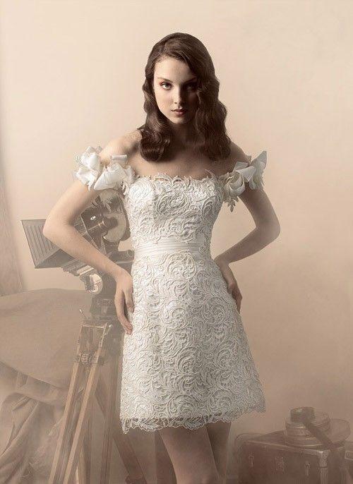 короткое свадебное платье: коллекция 2017 фото 11
