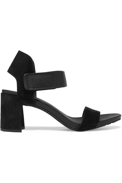 Pedro Garcia - Willa Textured-leather And Suede Sandals - Black - IT38.5