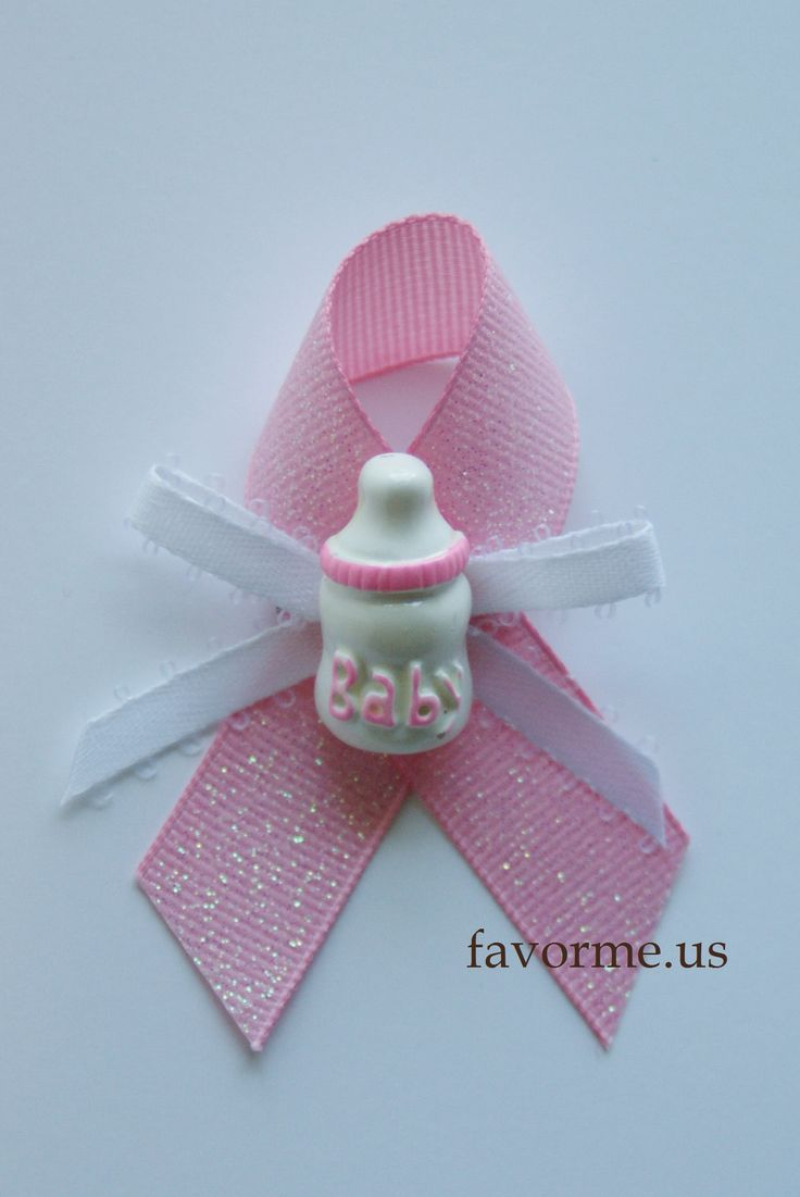 "(Measures 2.75 x 2.0 Inches) ""Pink Baby Bottle"" Center Piece, Girl Baby Shower Guest Pin On Favors. Set of 12 Pieces. Design #04."