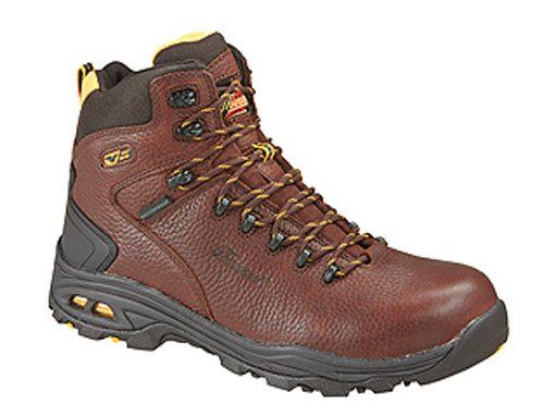 Waterproof tumble full grain leather, Thoro>dri(tm) Membrane waterproof system, Removable VGS Motion Sensor dual density polyurethane footbed with memory foam, VGS 300 traction rubber outsole, Composite safety toe meets ASTM F2413-11 M I/75/C/75 andEH standards