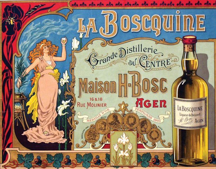 La Boscquine - Agen (Lot et Garonne) Grande distillerie du Centre - Maison H-Bosc - Liqueur de Dessert.