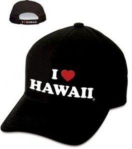 Hawaiian Hat I Love Hawaii Black
