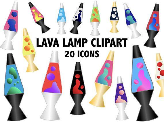Lava Lamp Clipart Hippie Retro 90s Clipart Icons Etsy Clip Art Lava Lamp Homemade Invitations