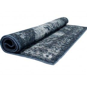 IN PRIJS VERLAAGD!! Wollen tapijt in grijsblauw