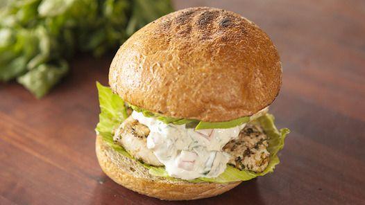 Lemon Chicken Burger with Zest Yoghurt Mayo