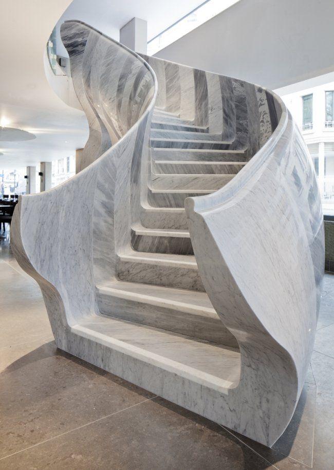 design-escalier-moderne-salon-théâtre-st-James-Londres