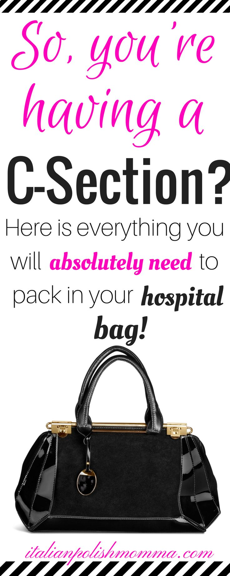 Preparing for baby during pregnancy - Are you having a scheduled c-section? Here is exactly what you will need to pack in your hospital bag for your scheduled c-section! These hospital bag must haves are essential for a smooth cesarean recovery! You'll be so happy you packed these essentials in your hospital bag and will be prepared for your scheduled c-section baby! #scheduledcsection #hospitalbag #csection #cesarean #labordelivery #pregnancy