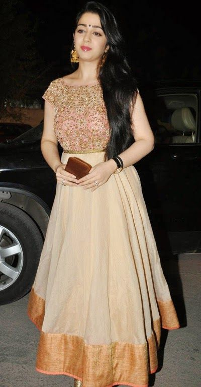 charmy in floor length anarkali