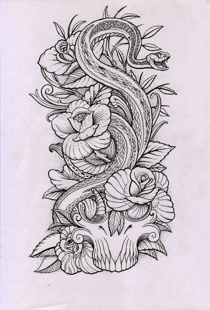 Snake Tattoo Ideas In Japanese Style – The Nice Japanese Snake Tattoo Is Carved …
