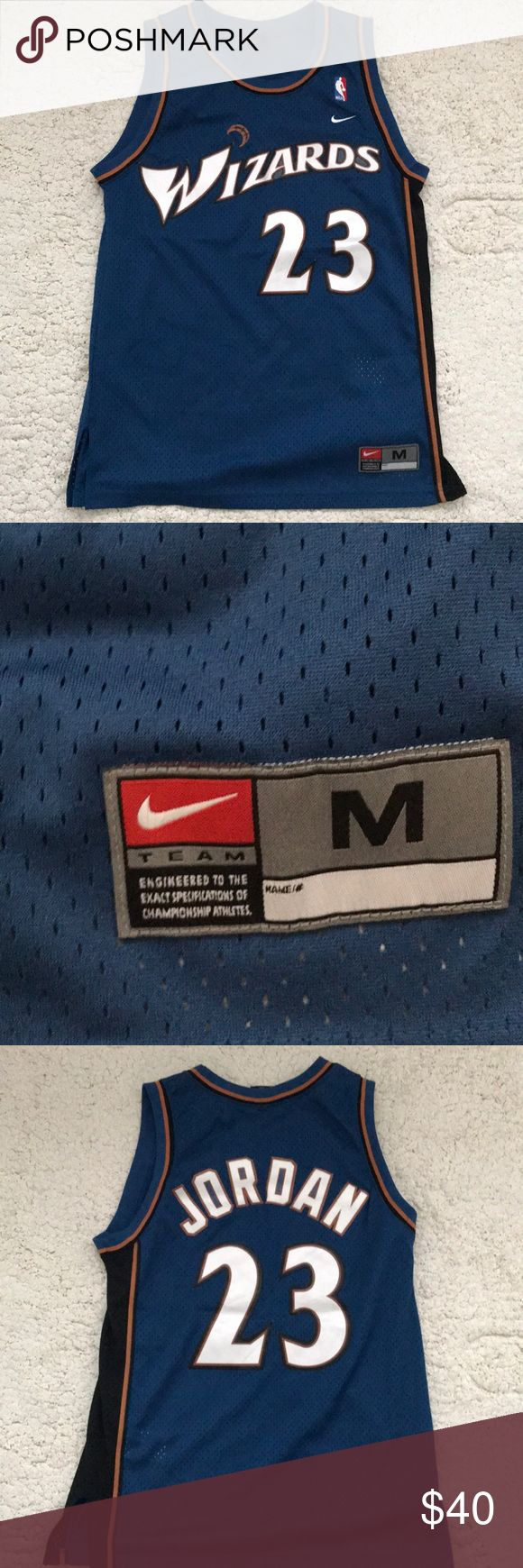Nike Michael Jordan Wizards Jersey Very good condition Michael Jordan Wizards Jersey. Selling y collection since I need to clear out my closet. Size is Medium. No rips or stains. Nike Shirts Tank Tops