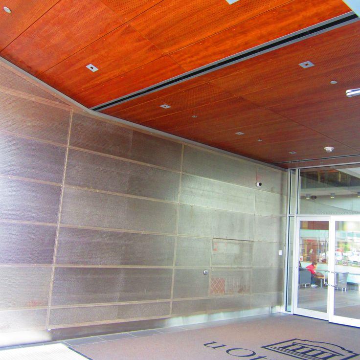 Project: Univ of Ottawa, Vanier Building  Location: Ottawa, ON Product: Parklex Facade - Perforated Cherry Architect: Diamond Schmitt