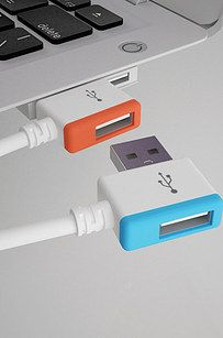 This Infinite USB Port.This allows any USB-compatible technology to connect to an infinite amount of devices. It's also really colorful, which makes USB ports fun (finally!).