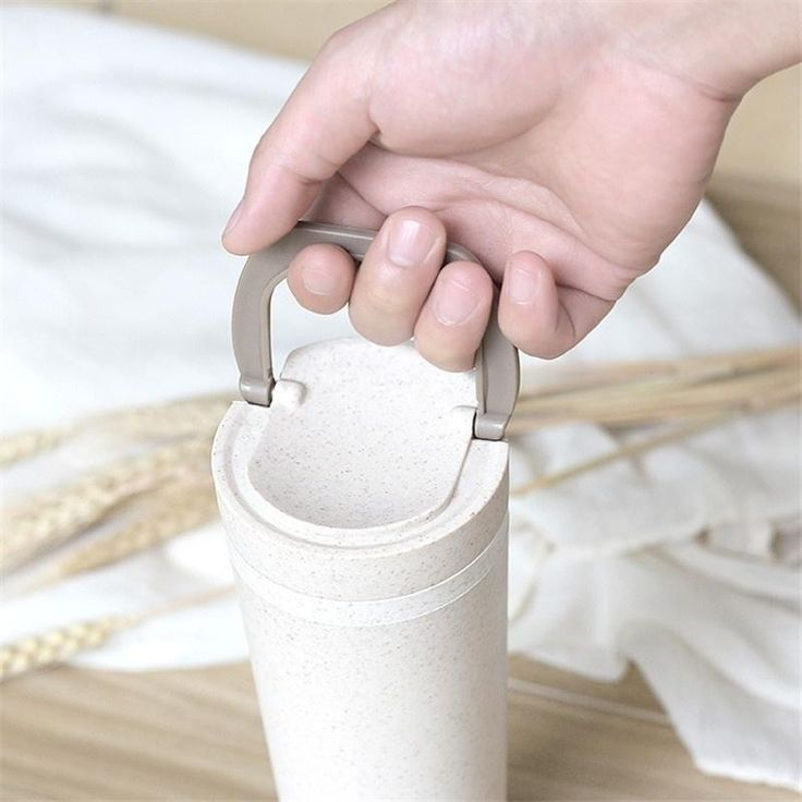 Wheat Straw Cup Seal Creative Double-layer Thermal Insulation Cup