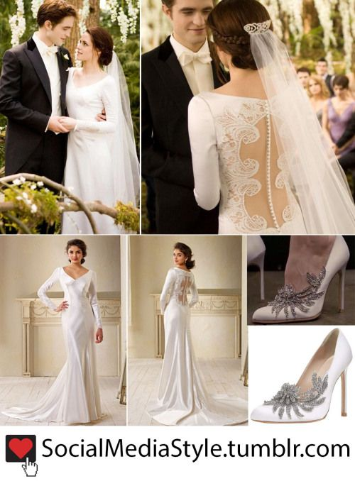 Bella Swan Kristen Stewarts Wedding Gown And Crystal Embellished