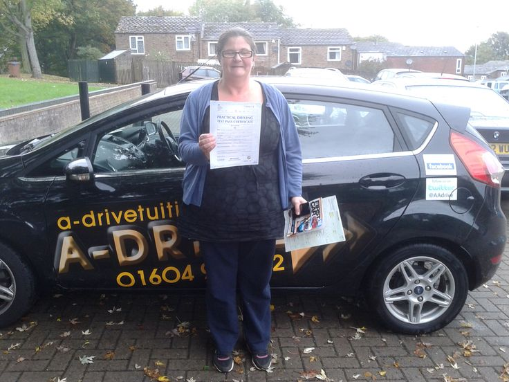 """Congrats Wendy Hawkes who passed her practical driving test 1st time with only 2 minor driving faults at Kettering Driving Test Centre with Aidan Checketts of www.adrivetuition.co.uk  Wendy said """"Brilliant instructor. Very fair and calm. Thank you so much"""""""