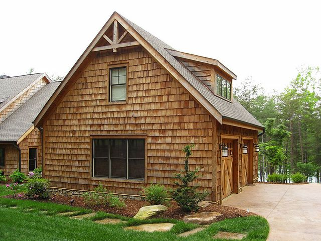 10 images about rustic cabin exteriors on pinterest for Rustic garage plans