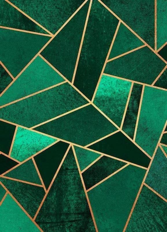 Emerald and Copper als Leinwandbild von Elisabeth Fredriksson | JUNIQE