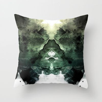 Test de Rorschach Throw Pillow by Acefecoo - $20.00