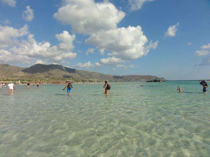 baai Elafonissi uiterste punt zuidwest Kreta,