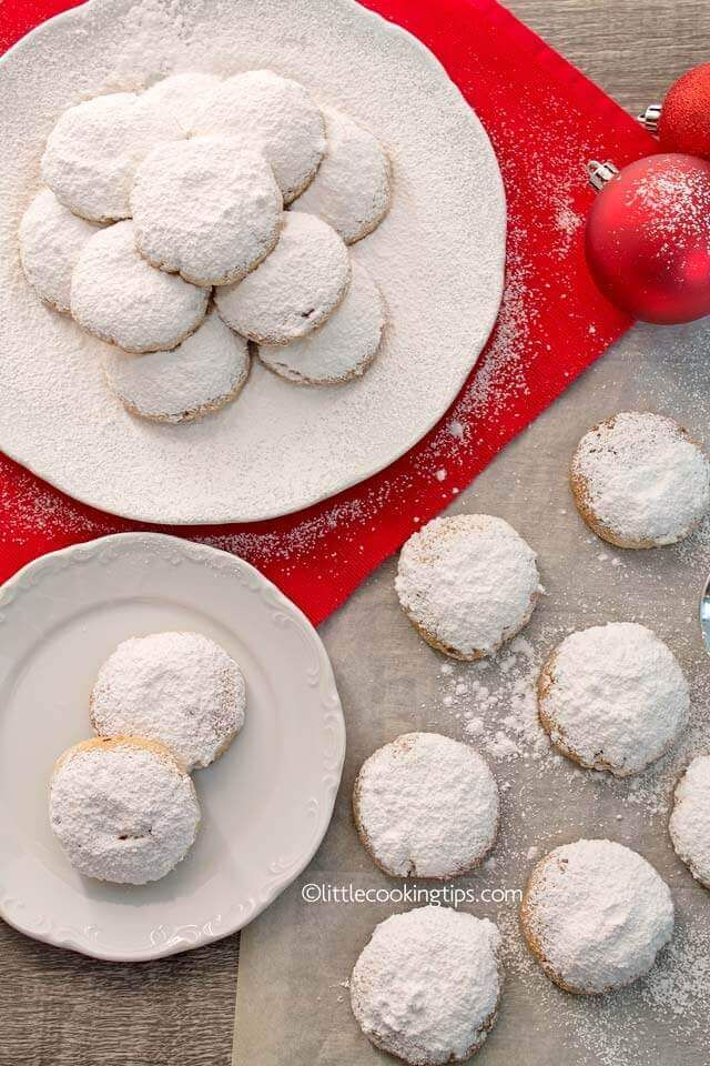 Authentic Traditional Greek Christmas Snowball Cookies Kourabiedes