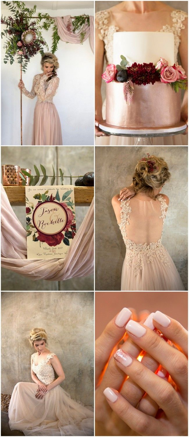 Get lots of beautiful Copper, Burgundy and Blush Wedding Decor + Detail ideas here:  http://www.confettidaydreams.com/copper-burgundy-and-blush-wedding/