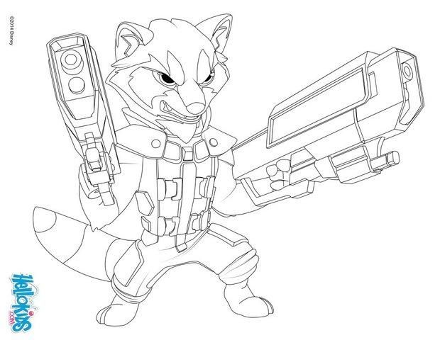Guardians Of The Galaxy Coloring Pages Rocket Raccoon Guardians