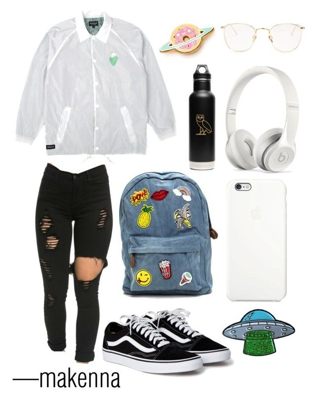 """""""walking tall against the rain ☔️"""" by makennaxgreen ❤ liked on Polyvore featuring RIPNDIP, Apple, Beats by Dr. Dre, klean kanteen and Linda Farrow"""
