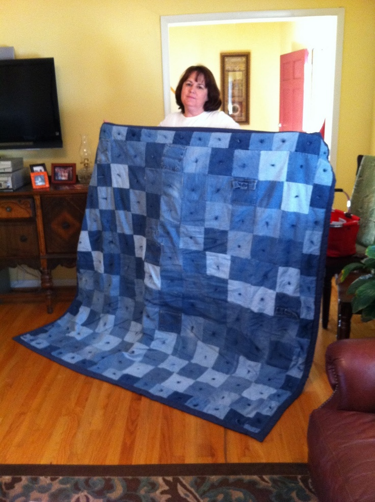 The Way Grandmama Does It Made From Scratch Blog Hop 2012 Number 2 Denim Quilt Blue Jean