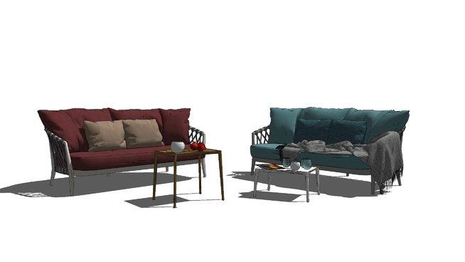 ERICA_BlueRed_Sofa - 3D Warehouse