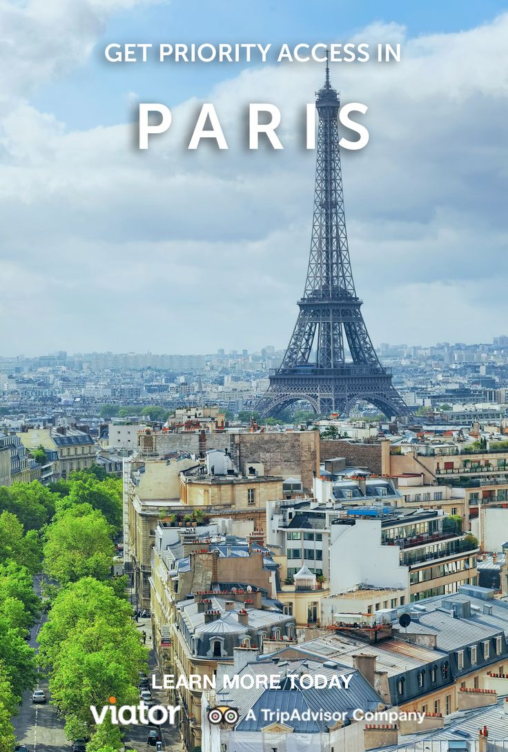 Book Skip the Line tickets for many of Paris' most popular sights and you can head straight to the front of the queue and spend the rest of your time soaking up the atmosphere in the City of Lights.