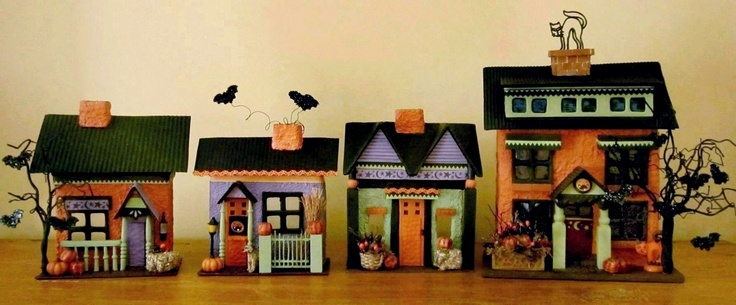 404 Best Craft Cardstock Houses Images On Pinterest