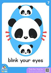 Panda Bear, Panda Bear | Action Verb Bedtime Song - blink your eyes