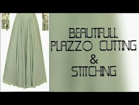 Fancy Floral Umbrella Trouser Palazzo Pants Stiching Cutting