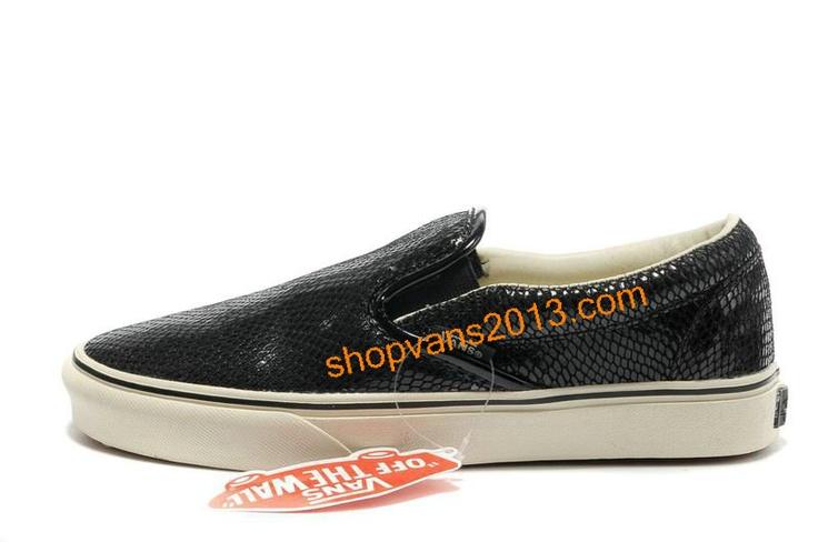 Vans Classics Snakeskin Veins Slip-On Black [Cheap Vans Shoes 291] - $48.89 : Cheap Vans Shoes Outlet Store: Cheap Vans For Sale Online.