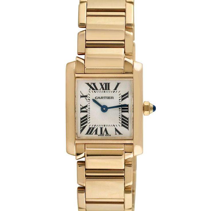 Cartier Tank Francaise Ladies 18k Yellow Gold Wristwatch, Ref 2385, Circa 1990 1