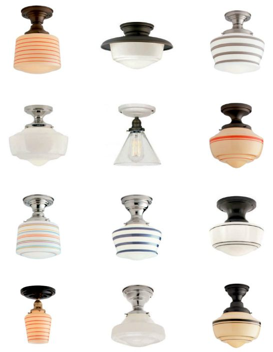 Schoolhouse Electric & Supply Co. Swap builder-grade lights for schoolhouse fixtures.