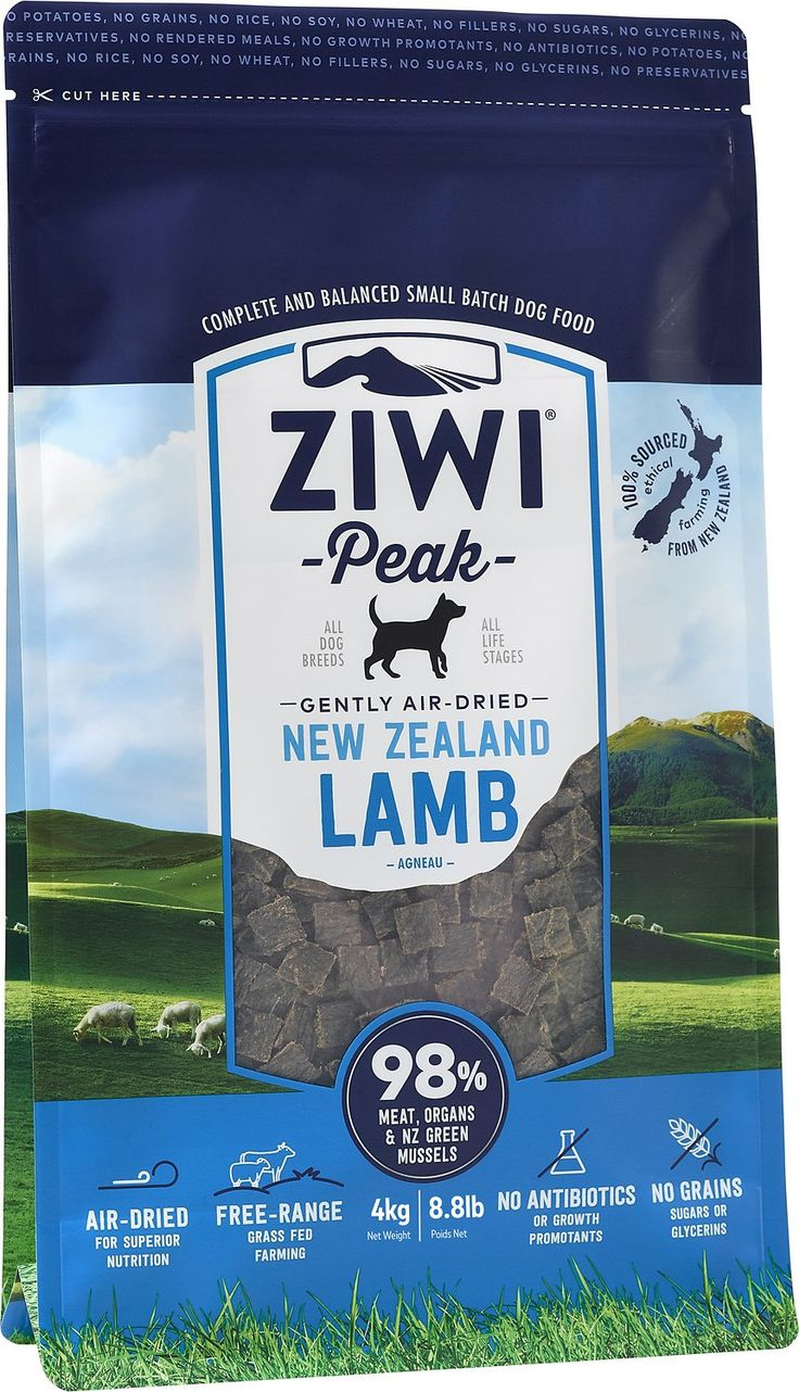 Feed your dog farm to bowl nutrition with the Ziwi Peak Daily-Dog Lamb Cuisine Grain-Free Air-Dried Dog Food. Simple and pure, just like the Ziwi love for dogs, this recipe gives your pal the best of New Zealand. Using a gentle twin-stage air-drying process, they naturally preserve all the ingredients, which also eliminates pathogenic bacteria. There's no need to rehydrate since the air-dried food contains more moisture than dry kibble—and because there's also no need for preservatives…