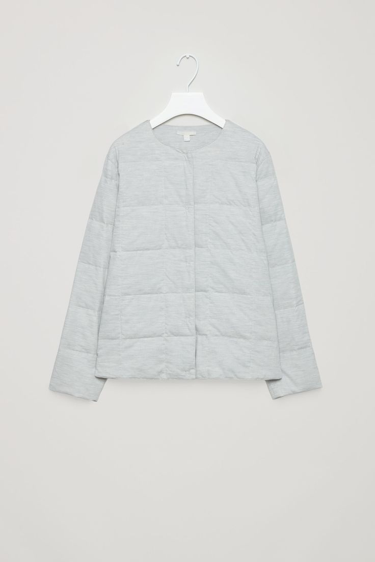 COS image 4 of Padded jacket  in Light grey