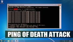 How To Perform Ping of Death Attack Using CMD And Notepad (Just For Learning)…