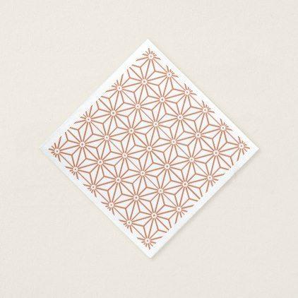 Japanese Yukata Jinbei Asanoha ensyucha Paper Napkin - individual customized designs custom gift ideas diy